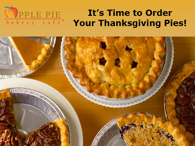 It's time to order your Thanksgiving Pies!