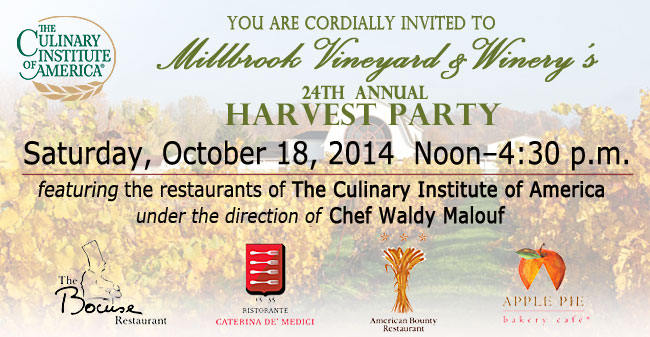 Millbrook Winery 24th Annual Harvest Party, Saturday October 18, 2014, Noon-4:30 p.m.